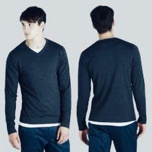 Frank and Oak Merino Wool V-Neck Pullover Sweater